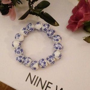 Delft Blue Type Bracelet.